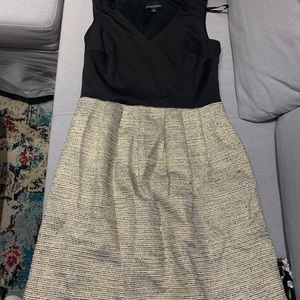 Cynthia Rowley black and gold dress